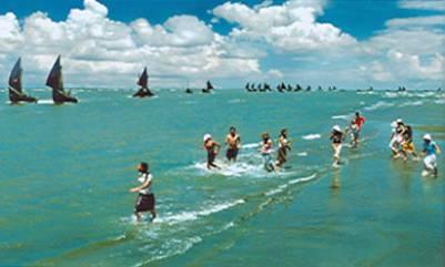 Du khách tại bãi biển Cửa Lò – Ảnh: nguồn antuongchaua.com.vn