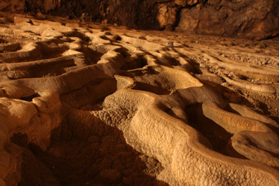 """Stalactites form """"terraced fields"""""""