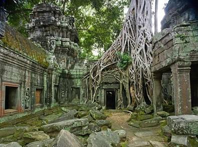 Nét cổ quái tại ngôi đền Ta Prohm
