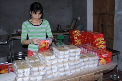 Một cơ sở sản xuất bánh Cáy