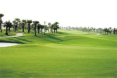 Sân golf trong khu du lịch