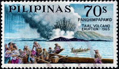 Tem kỷ niệm núi lửa Taal Volcano