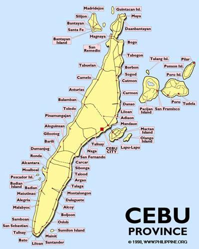 Bản đồ tỉnh Cebu