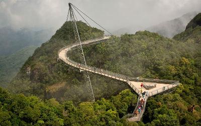 Cầu treo trên đỉnh núi