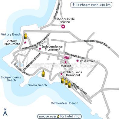 Bản đồ du lịch Sihanoukville