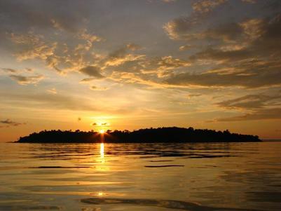 Hoàng hôn trên biển Sihanoukville