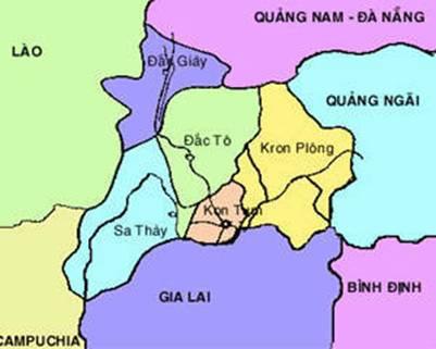 Bản đồ vị trí Kon Plông