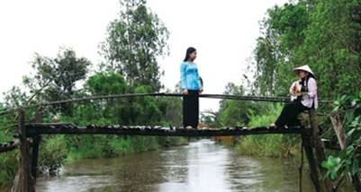 Đờn ca tài tử trên những chiếc cầu nhỏ xinh