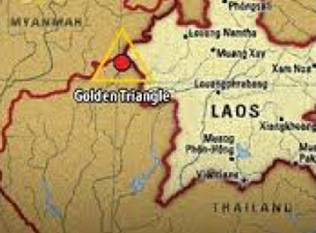 Bản đồ vùng Tam giác Vàng