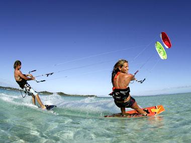 Lướt ván diều tại Boracay