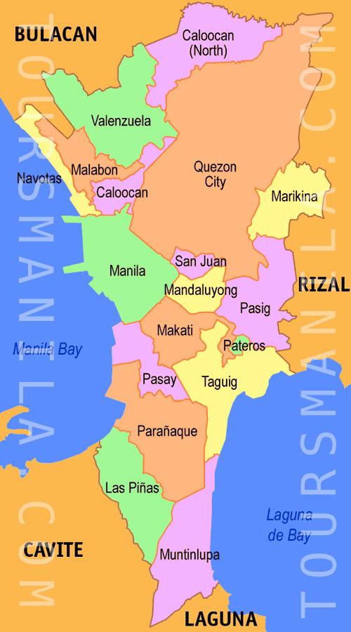 Bản đồ vùng đô thị Manila