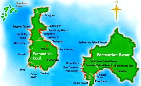 Bản đồ đảo Perhentian