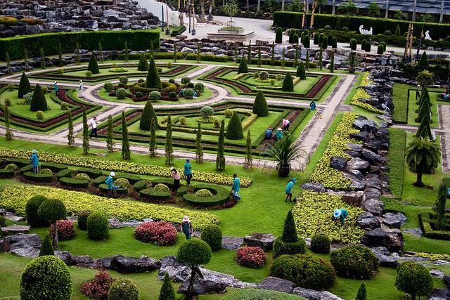 Một góc vườn Nong Nooch