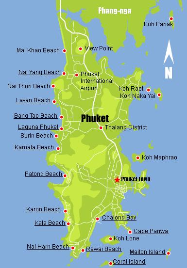 Bản đồ đảo Phuket