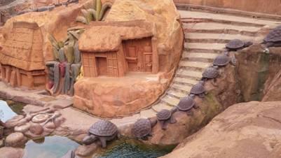Đàn rùa đang nối đuôi