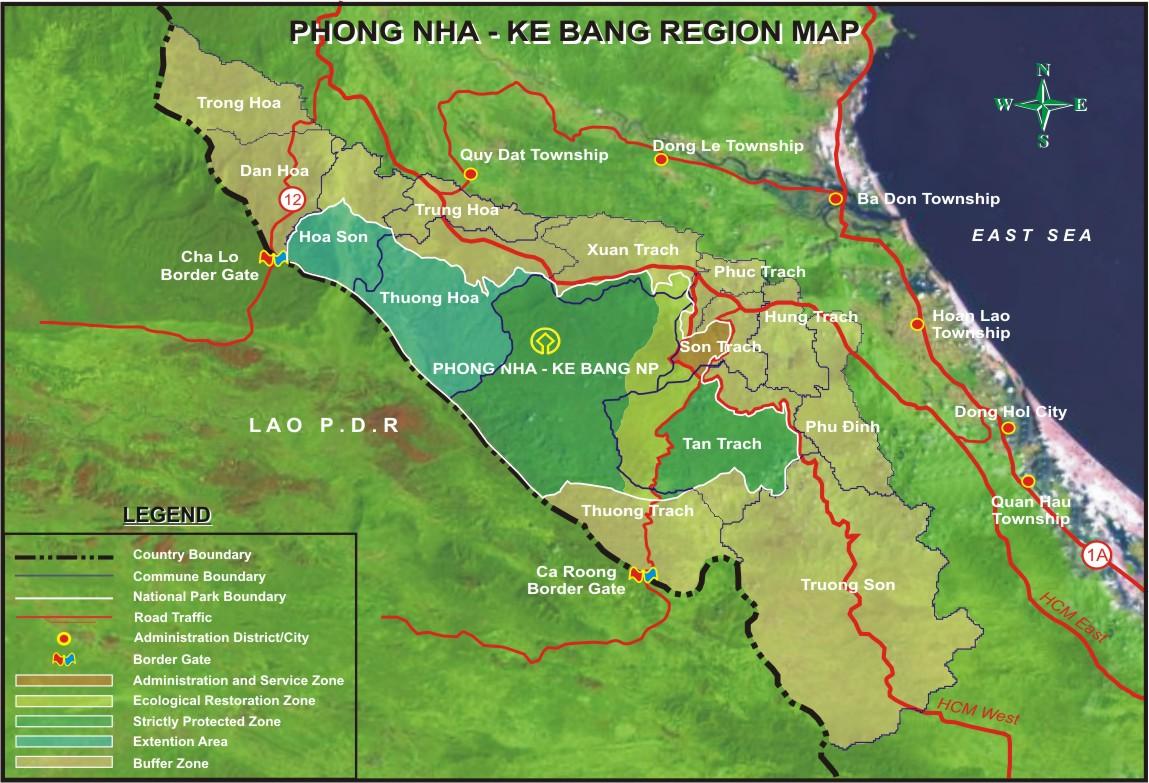 Bản đồ quy hoạch Phong Nha - Kẻ Bàng