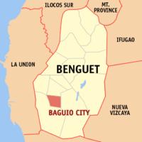 Vị trí thành phố Baguio