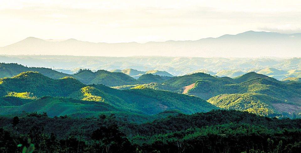 Núi đồi tại CVĐC núi lửa Krông Nô