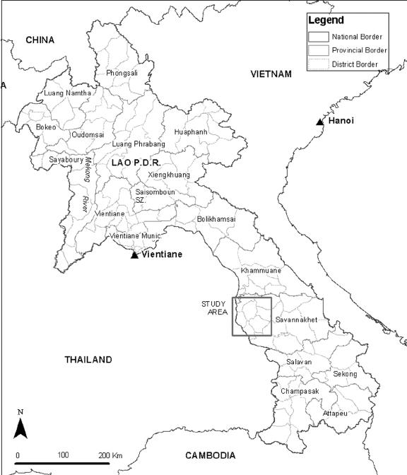 Bản đồ quốc gia Lào