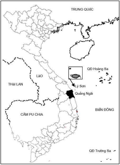 Vị trí Lý Sơn trên bản đồ Việt Nam