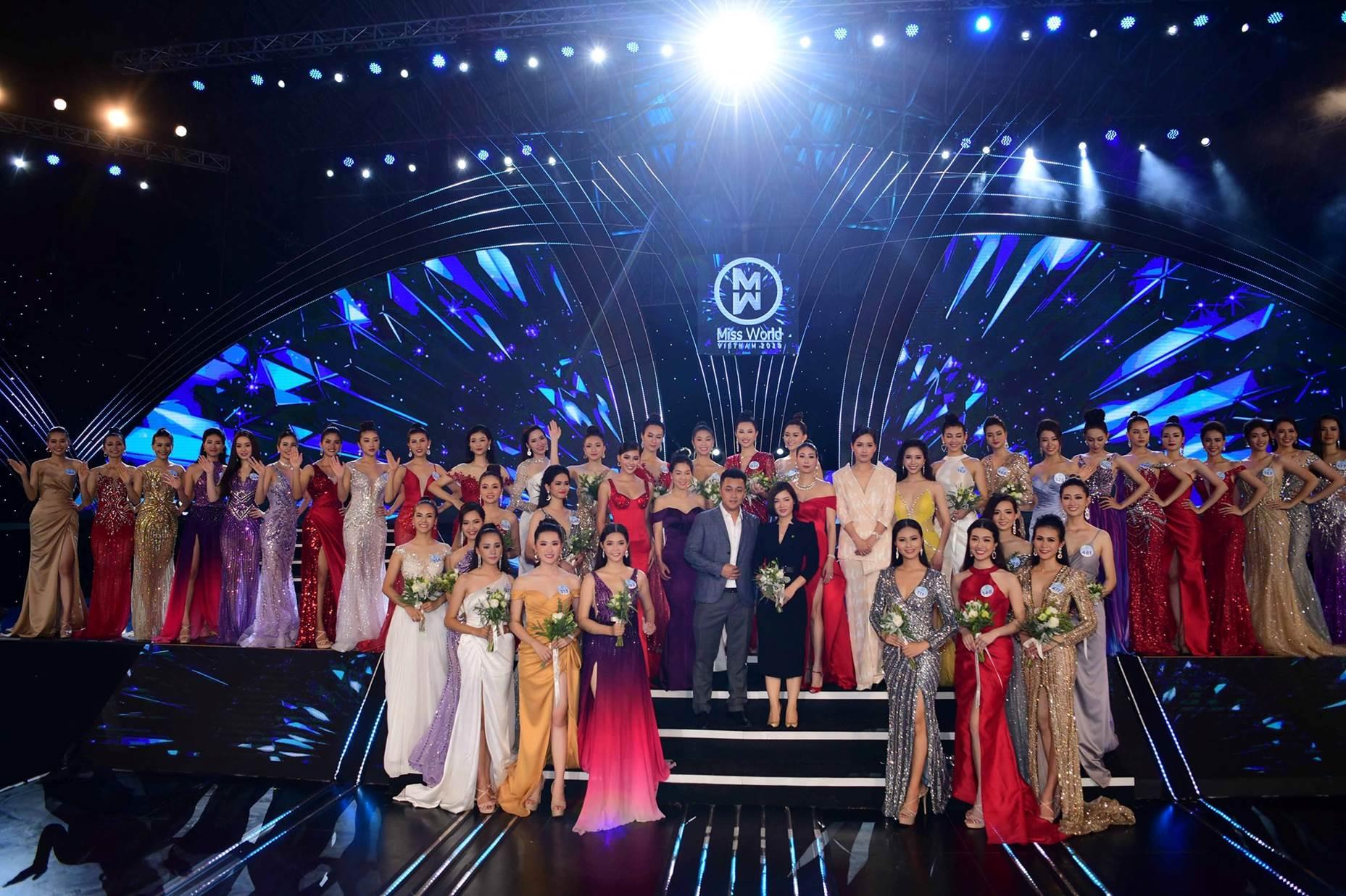 Các thí sinh tham dự đêm chung kết