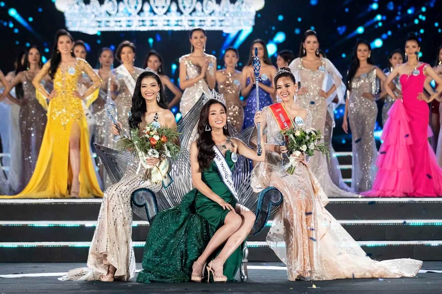 Hoa hậu Thùy Linh và hai Á hậu