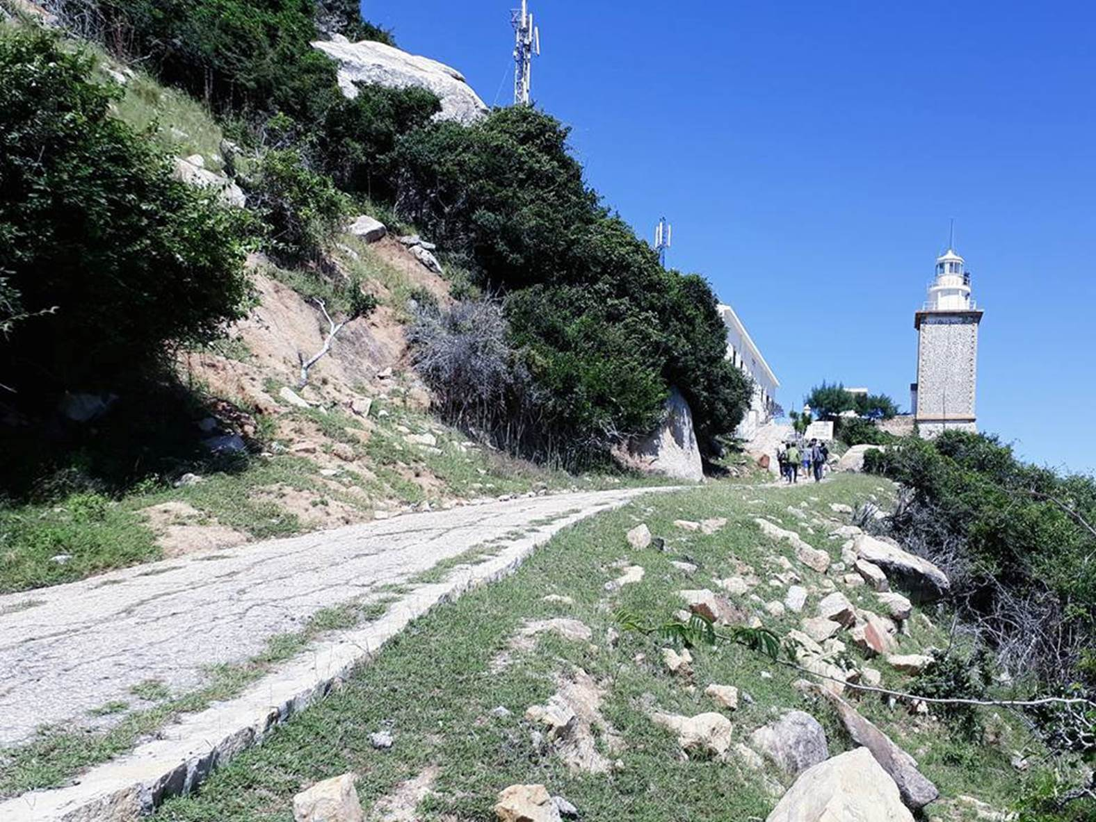 Đường lên hải đăng Mũi Dinh